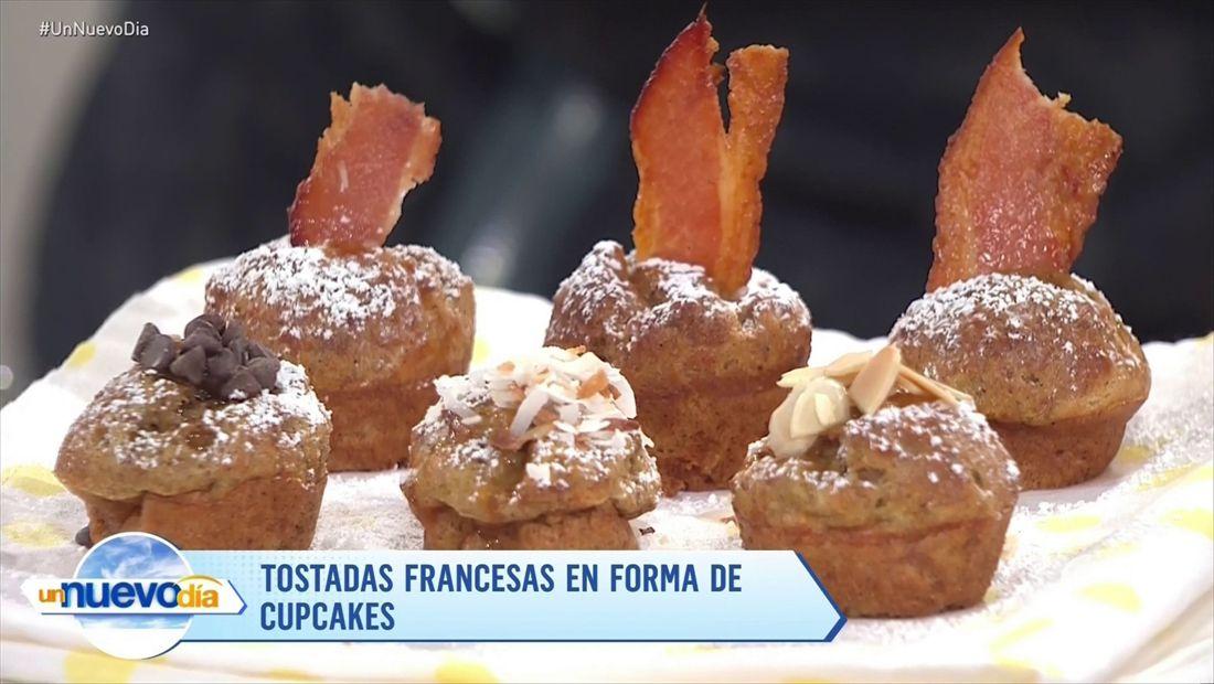 Tostadas Francesas en forma de Cupcakes