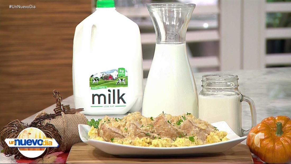 Lomo cocido en leche