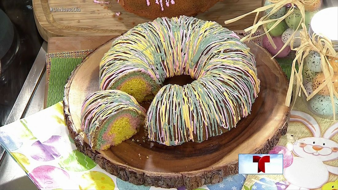 Torta arcoíris de Pascua