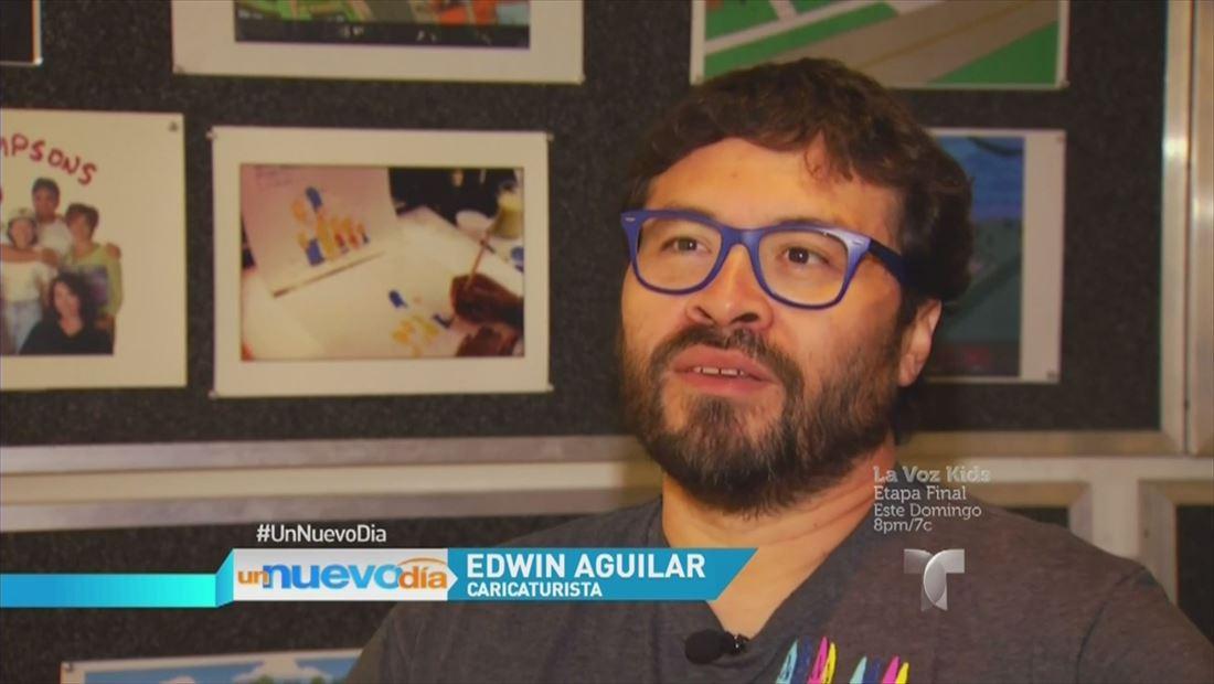 Edwin Aguilar el caticaturista salvadoreño detrás de Los Simpsons (VIDEO)