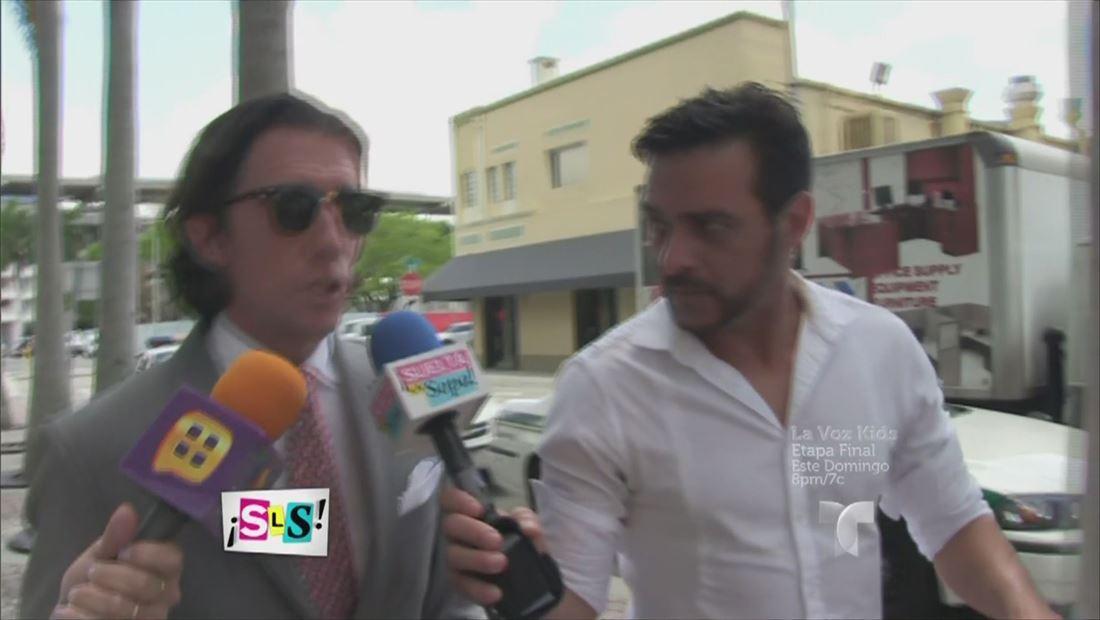 Colate se reúne con su hijo después de ir a corte (VIDEO)