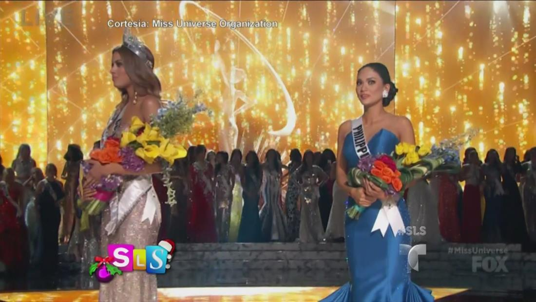 Miss Colombia y Miss Filipinas reaccionan al error de la coronación de Miss Universo 2015 (VIDEO)